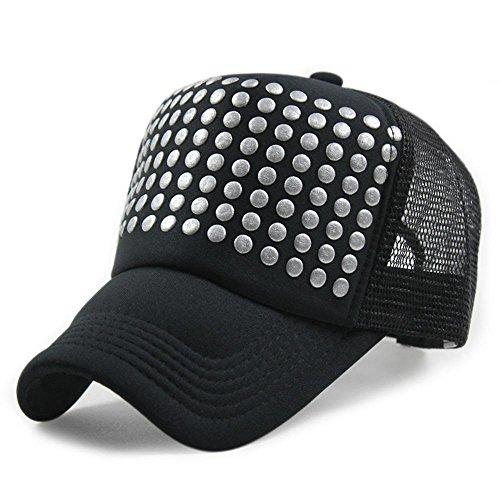 TOYUN Mesh Protezione Della Visiera Protezione Del Camion Cappello Dots, Schiuma Stampa Sun All'Aperto , black