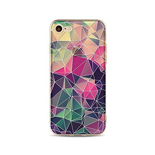 Coque iPhone 7 Plus Housse étui-Case Transparent Liquid Crystal en TPU Silicone Clair,Protection Ultra Mince Premium,Coque Prime pour iPhone 7 Plus-Relief stéréo-style 1 3