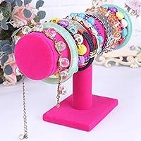 Hunpta Velvet Jewelry Rack Bracelet Necklace Stand Organizer Holder Display