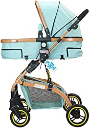Pixie High landscape Stroller/Pram, Extra Large Seating Space, Easy Fold, for Newborn Baby/Kids, 0-3 Years (bl