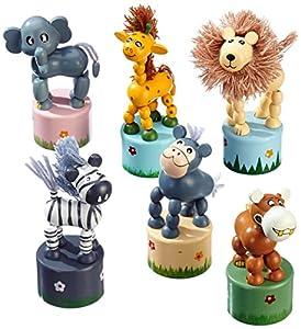 Small Foot Company - 7924, Estatuilla - Juegos de animales, paquete de 6 unidades