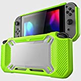 Leoie for Nintend Switch Case Rugged Protective Hard Shell Green