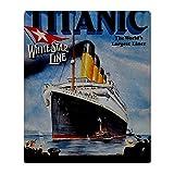 CafePress Vintage Titanic Reisen–weicher Fleece Überwurf Decke, 127x 152,4cm Stadion Decke, weiß, 50x60