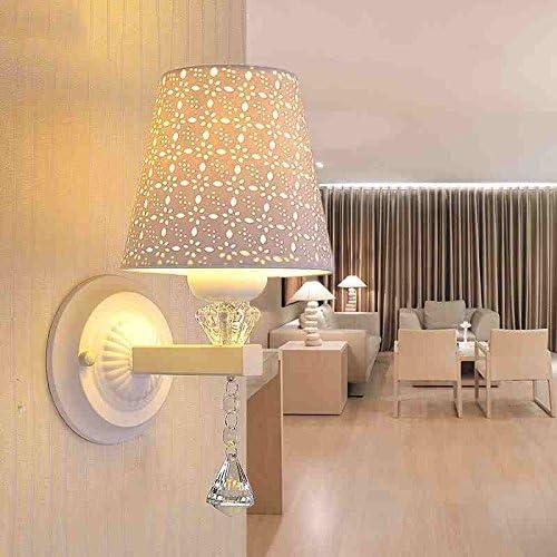 Comodino lampada a da parete a lampada LED da letto semplice e moderno lampada della testa della navata laterale del salone Luce a muro caldo cristallo singolo Lampada da comodino ( dimensioni   Small ) 5f9782