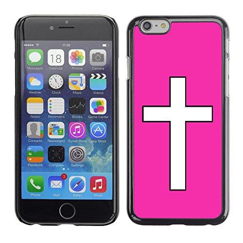 Graphic4You Kreuzr Design Harte Hülle Case Tasche Schutzhülle für Apple iPhone 6 / 6S (Gelb) Neon Rosa