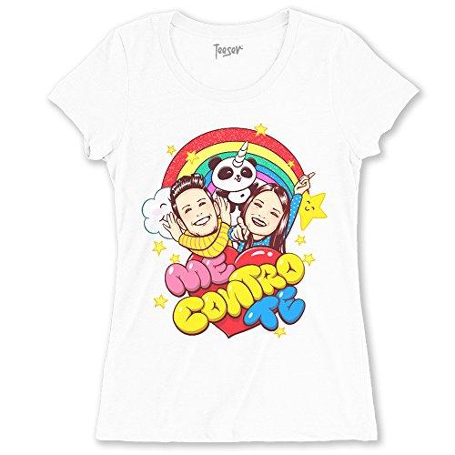 Teeser, T-shirt Donna Me contro Te Le Trote Sofì e Luì Youtuber - Maglietta ufficiale Me contro Te - Taglie piccole adatte anche per bambino