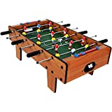 #8: Toyshine Mid-Sized Foosball, Mini Football, Table Soccer Game, 6 Rods, 24 inches