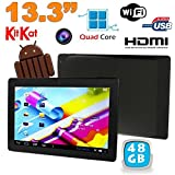 Tablette tactile 13 pouces Android 4.4 KitKat Wi-Fi Bluetooth 48Go