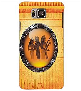 PrintDhaba Tribal Girls D-5410 Back Case Cover for SAMSUNG GALAXY ALPHA (Multi-Coloured)