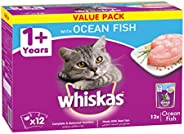 Whiskas Ocean Fish Pouch, Multipack 85g x Pack of 12