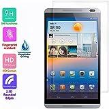 Voguecase® Protector de vidrio templado de vidrio templado para Huawei MediaPad M1 8.0 Protector de pantalla Ultra HD - Extreme Clarity 9H duro 0.3 mm 2.5D clara