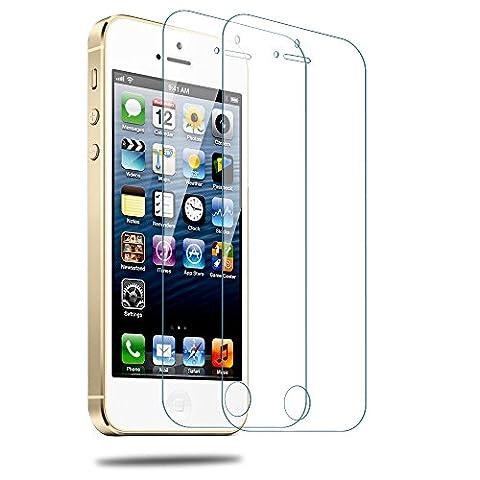 Utmury iPhone 5 Schutzfolie, Gehärtetes Glas Display Schutz Premium für