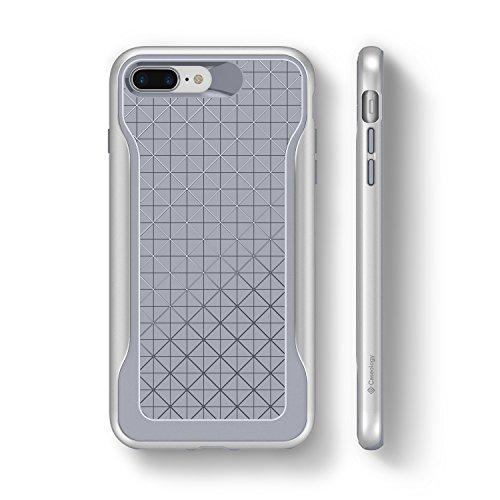 iPhone 8 Plus Case, Caseology [Apex Series] Slim Protective Dual Layer Textured Cover Secure Grip Geometric Design [Burgundy] for Apple iPhone 8 Plus (2017) / 7 Plus (2016) Oceano Grigio - Ocean Gray