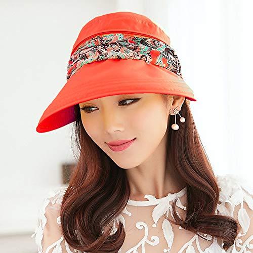 Wghz Hut Visier Anti-UV Strand Outdoor Radfahren Sun Cool geeignet für die meisten MenschenHüte geeignet für mos (Farbe: Orange) (Visier Radfahren)