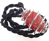 Carnelian Sacral Chakra Spiral Pendant