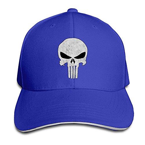 Fuhfvdf Spannbettlaken The Punisher 's Skull Flag Trucker Mützen Sandwich Cap, Blau