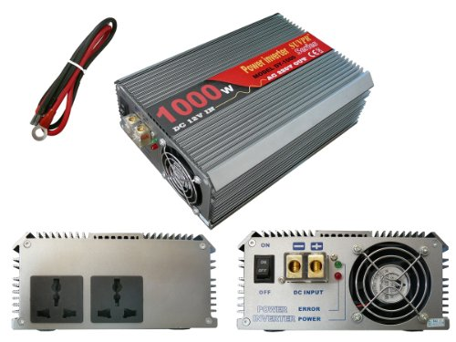 Convertitore di tensione 12V in 220V (Invertitore AC-DC)-Potenza 1000Watt Reels-2prese settore 220V