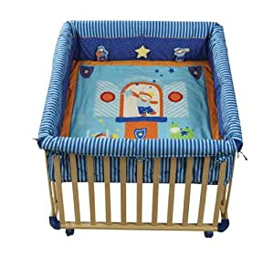 roba laufgitter laufstall 100x100 cm sicheres spielgitter inkl schutzeinlage rollen baby. Black Bedroom Furniture Sets. Home Design Ideas