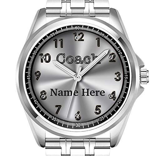 Personalisierte Herrenuhr Mode wasserdicht Uhr Armbanduhr Diamant 383.Custom Watches für Trainer, Coach und Name -
