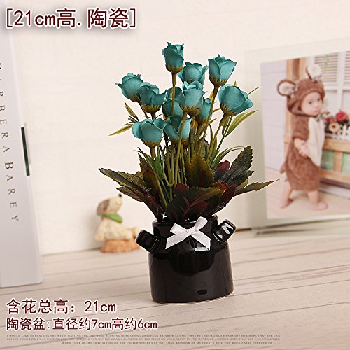 Fiori Artificiali Exquisite ceramica Flower Bud decorazioni di simulazione in vaso, ufficio, negozio decorato fiori artificiali,