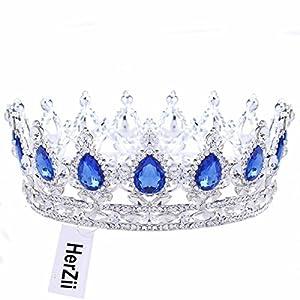 herzii Damen Festzug Ball Königin Kristall Strass Hochzeit Brautschmuck Diadem Princess Krone