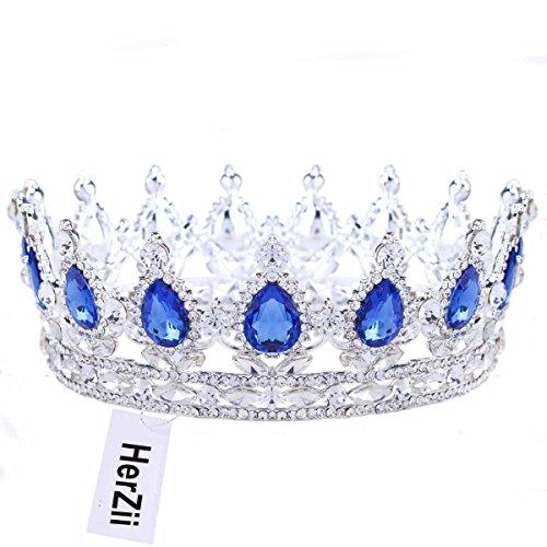 Der Herz König Kostüm Zubehör - HerZii Prinzessinnen-Diadem mit Strass, für Hochzeit,