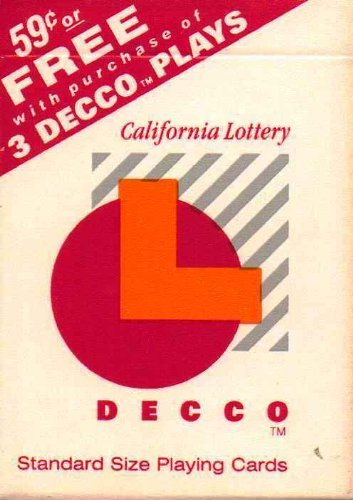 California Lottery Decco Playing Cards
