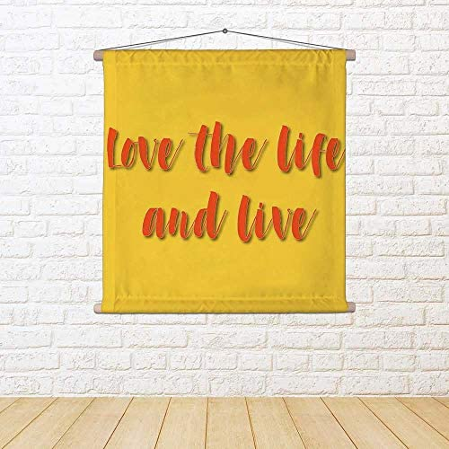 ArtzFolio Lettering About Life Satin Painting 30 Tapestry Wall Hanging 30 Painting X 30Inch 40919b