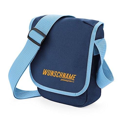 Coole Umhängetasche für Kinder Jugendliche Mädchen Jungs Tasche Schultertasche Reportertasche mit Wunschnamen
