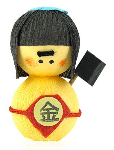 Tierra Zen KP2203 – Culbuto okiagari Kintaro l'enfant d'or, 4.5 x 3 x 4 cm, Couleur Marron