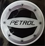 #7: Delhitraderss -Reflective Black Petrol Car Fuel Lid Decal /Sticker Rubber printed(10cm) for - Maruti Suzuki Swift Type-1