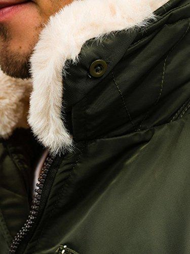 BOLF Herren Sweatjacke Jacke Winterjacke Herrenjacke MIX Grun_1026