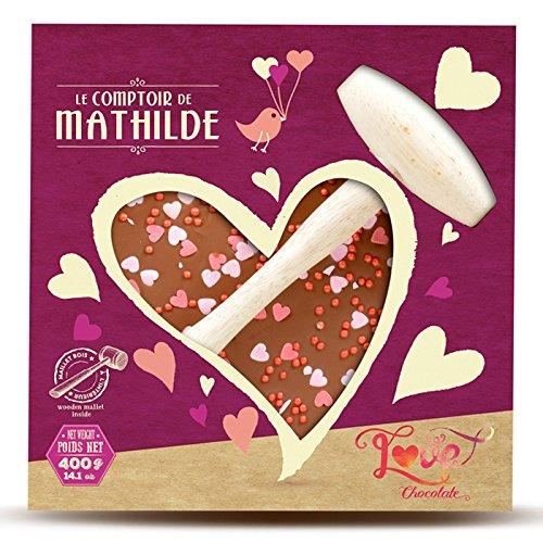 Chocolat à casser Coeur Love Lait