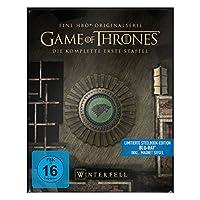 "Game of Thrones - Die komplette 1. Staffel (Steelbook) - mit Magnet ""Siegel Haus Stark"" [Blu-ray]"