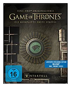"Game of Thrones - Die komplette 1. Staffel (Steelbook) – mit Magnet ""Siegel Haus Stark"" [Blu-ray]"