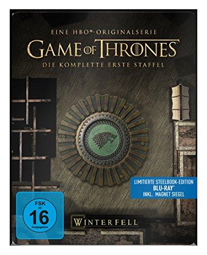 "game of thrones steelbook staffel 3 Game of Thrones - Die komplette 1. Staffel (Steelbook) – mit Magnet ""Siegel Haus Stark"" [Blu-ray]"