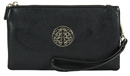 Big Handbag Shop, Borsetta da polso donna Black (KL101)
