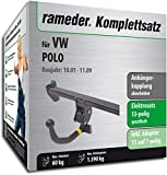 Rameder Komplettsatz, Anhängerkupplung abnehmbar + 13pol Elektrik für VW Polo (145505-04804-1)