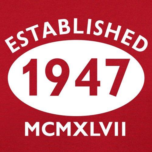 Gegründet 1947 Römische Ziffern - 70 Geburtstag - Herren T-Shirt - 13 Farben Rot