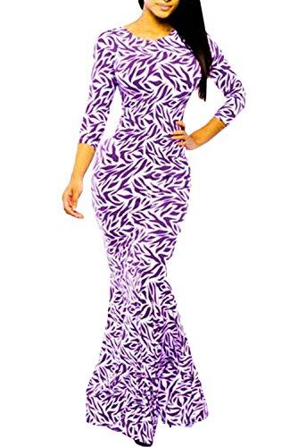 Dissa® femme Violet SY6871 longue Robe Violet