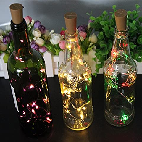 Led Bottle Cork Lights,6 Packs 15 LEDs Micro Fairy Lights 30in(75cm) Copper Wire String Lights for Party Birthday Wedding Home Table Decor