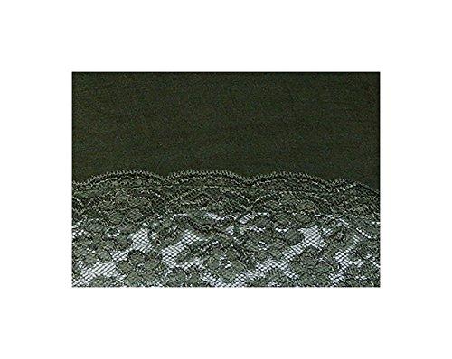S&LU Elegantes langes Spitzen-Top in wunderschönen Farben Gr. 34-38 und Gr. 40-44 Dunkelolive