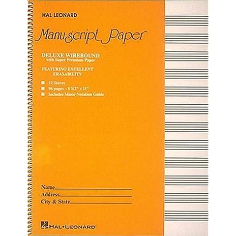 Deluxe Wirebound Super Premium Manuscript Paper (Gold Cover) (1987-12-30)