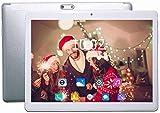 Tablet 10 Pollici con 4G WiFi 3 GB RAM 64 GB di Memoria Interna Tablet PC - Android 7.0 Quad Core e Slot per Doppia Scheda SIM Telecamera GPS OTG Bluetooth 4.0 IPS1280x800 ( Argento)