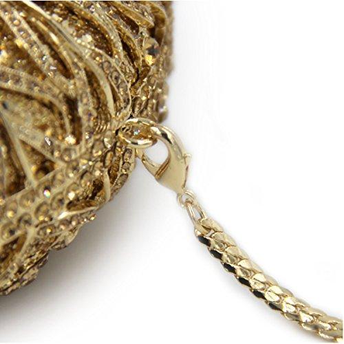 Luxus Diamant Kristall End Bankett Paket High Frauen Deepgold Abendtasche Edz5xXwEq