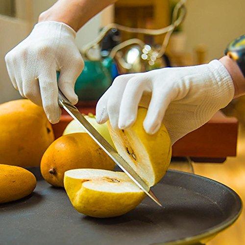 JZDCSCDNS Schnittfeste Handschuhe Anti-Kratz Anti-Messer Verschleißfest Draussen Persönlicher Schutz Küche Schneidejob Polyethylenfaser...