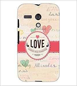 PrintDhaba Quote D-5589 Back Case Cover for MOTOROLA MOTO G (Multi-Coloured)