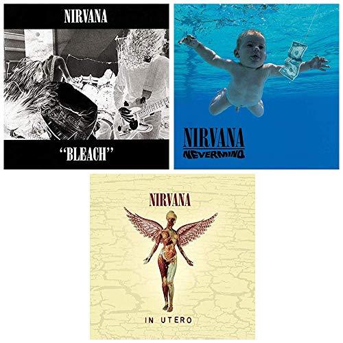 Nirvana: Complete Classic Studio Album Discography - The Kurt Cobain Years - 3 Audio CDs (Bleach / Nevermind / In Utero) -