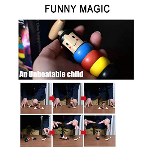 Ideapark Unbreakable Wooden Man Magic Toy, Wooden Magic Tricks Props Toys Fun Toys Gift for Kids, Children, Halloween, Christmas (2 PCS)