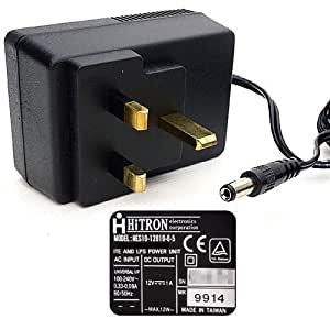 12V 1A 1000mA (max.) Power Supply Adaptor. Charger. Switching Adapter.